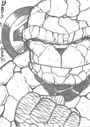 Thing sketch card pencils