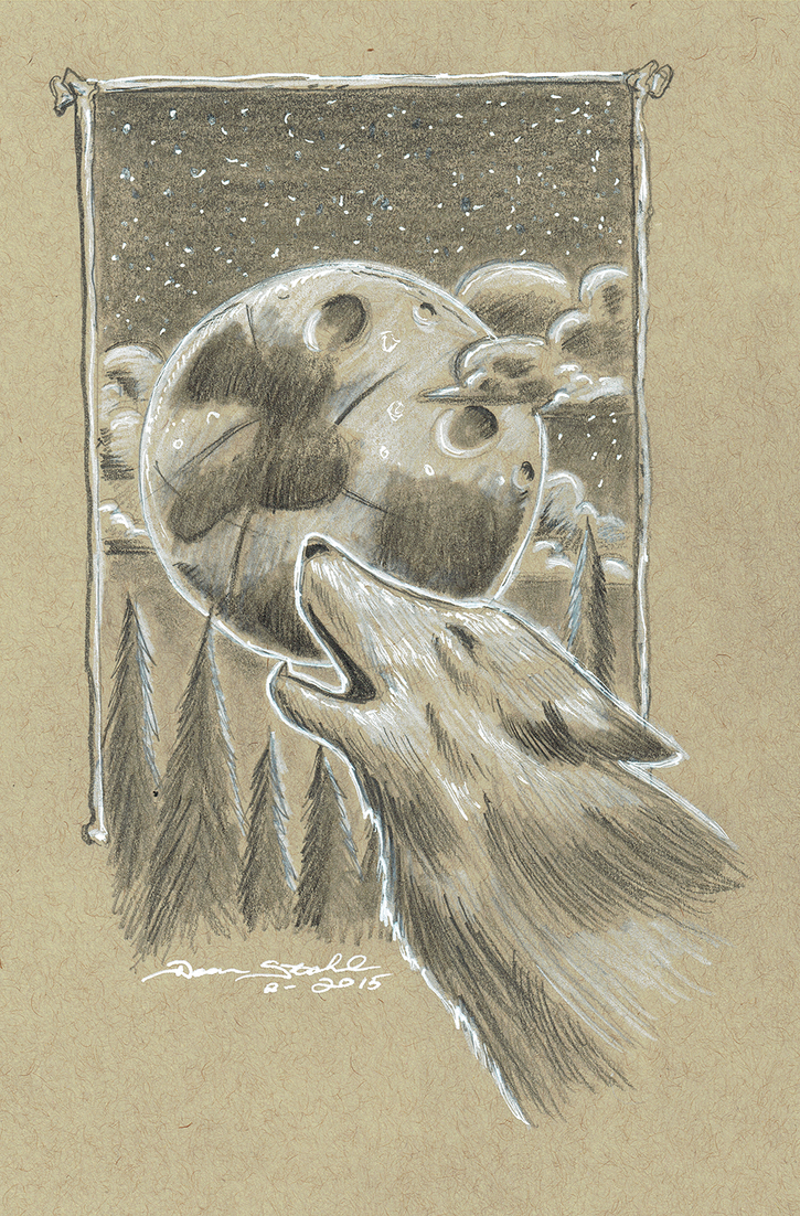 WolfTonedPaper by DeanStahlArt