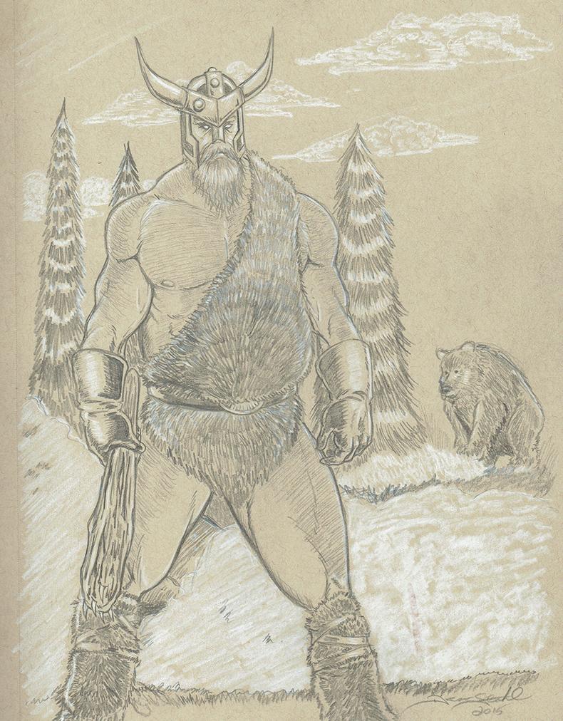 Bear Warrior by DeanStahlArt