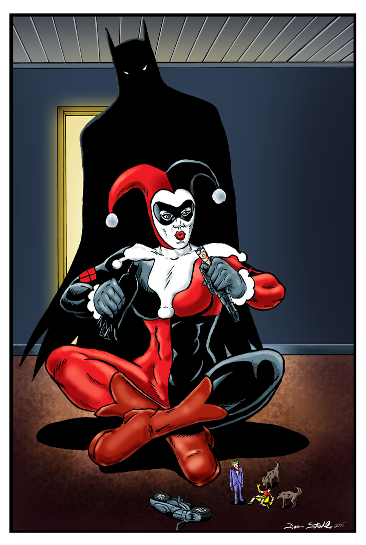 Harley Quinn pinup by DeanStahlArt