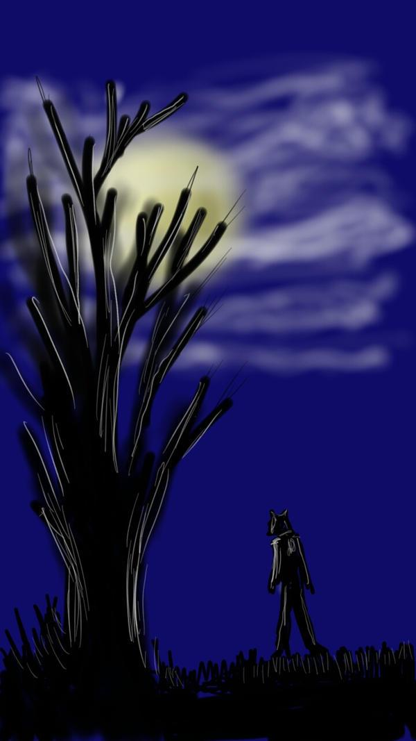 Midnight stroll by DeanStahlArt