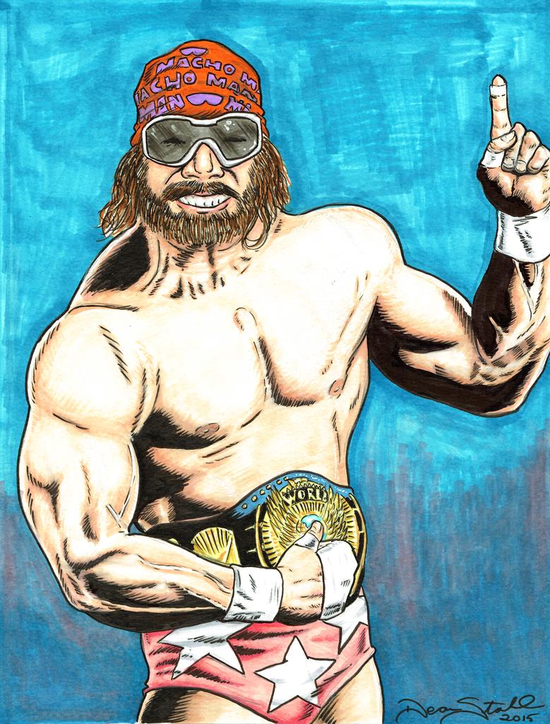 Macho Man Randy Savage by DeanStahlArt