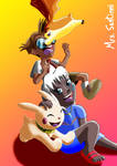 Milo and Kida as Digimon Tamers by MrsSantinni
