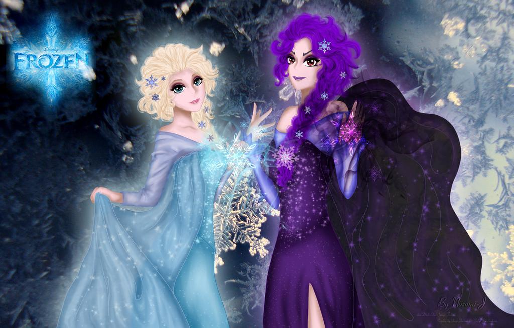 Elsa and Dark Elsa by Nozomi-J