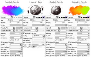 SAI Digital Art Tips || 1# Costumised Brushes by Snouken