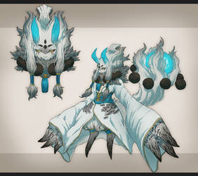 Epic Custom Fuwachii: Ice Oni Queen by Snouken