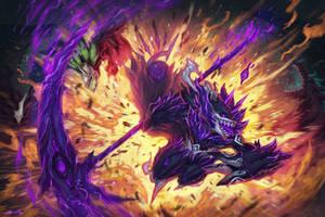 Splash Art Comm: Stiched Reaper by Snouken