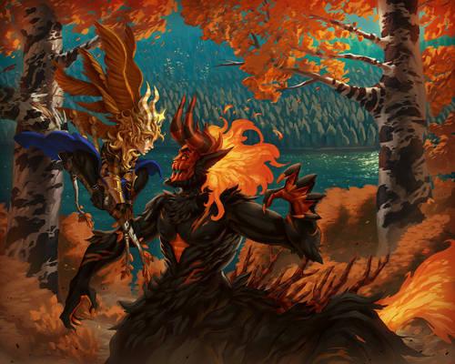 Splash Art Commissions: Autumn Encounter
