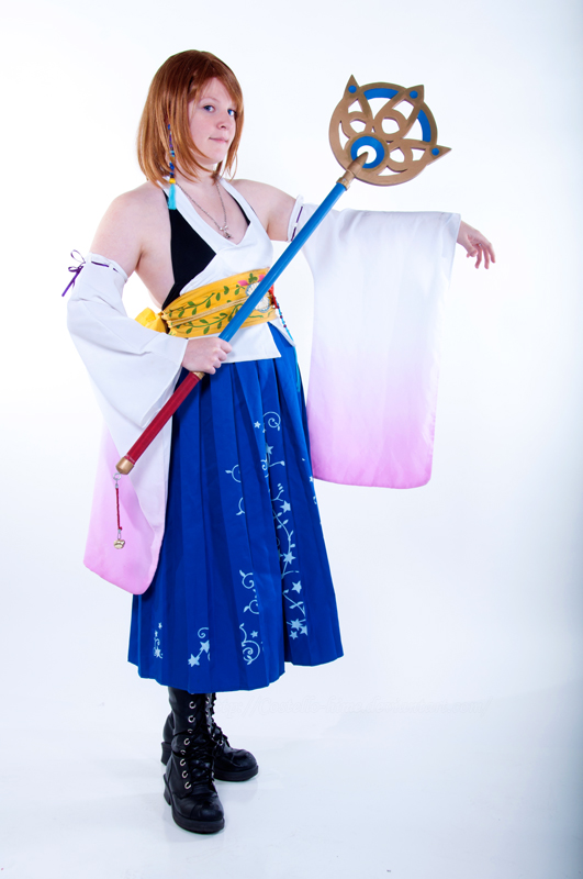 FFX- High Summoner Yuna by Rose-Curel