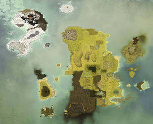 Map Of DOFUS in High Quality by Vixxeen