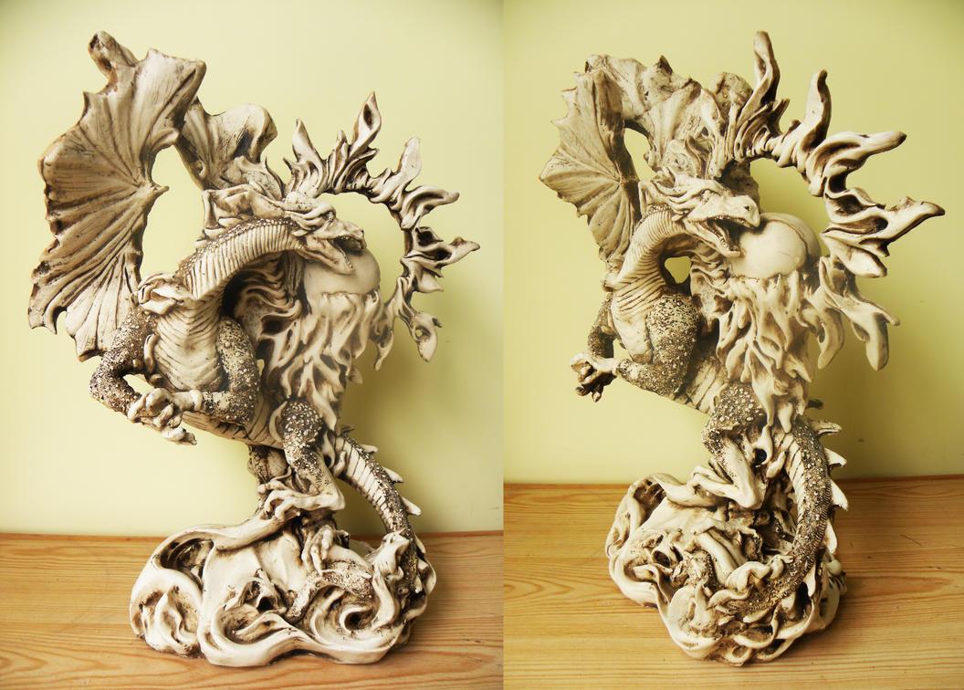 Dragon sculpture gift by twistedndistorted