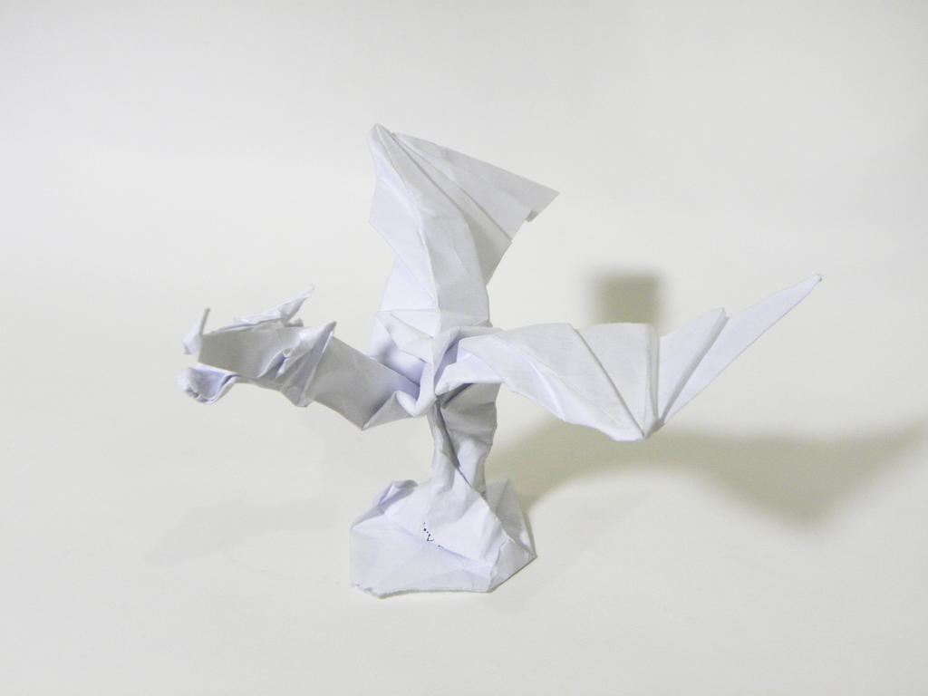 origami dragon statue by twistedndistorted on deviantart