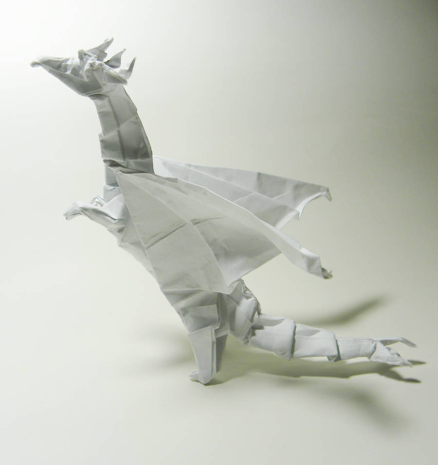 Origami Dragon by twistedndistorted