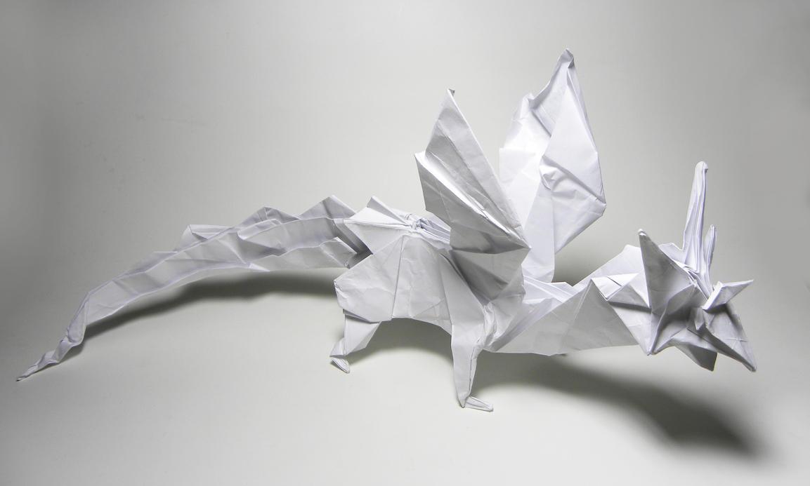 Origami Fiery Dragon Diagram