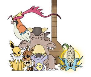 My Pokemon Let's Go Eevee! Team (reupload) by CatsnCoffee