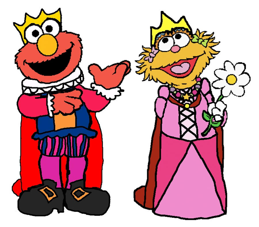 Prince Elmo and Princess Zoe by KingLeonLionheart on DeviantArt