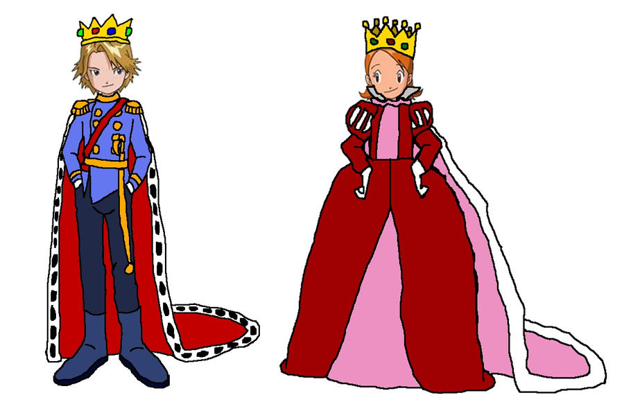 King And Queen Cartoon Drawing King And Queen Cartoon