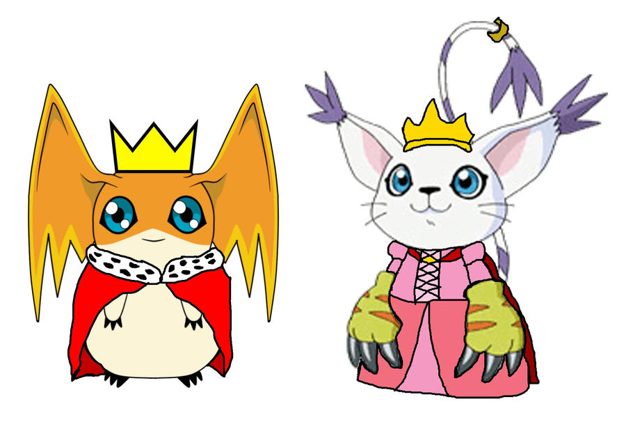 Gatomon And Patamon Lord Patamon and Lady Gatomon