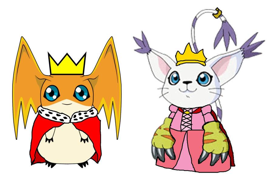 Gatomon And Patamon Lord Patamon and Lady Gatomon