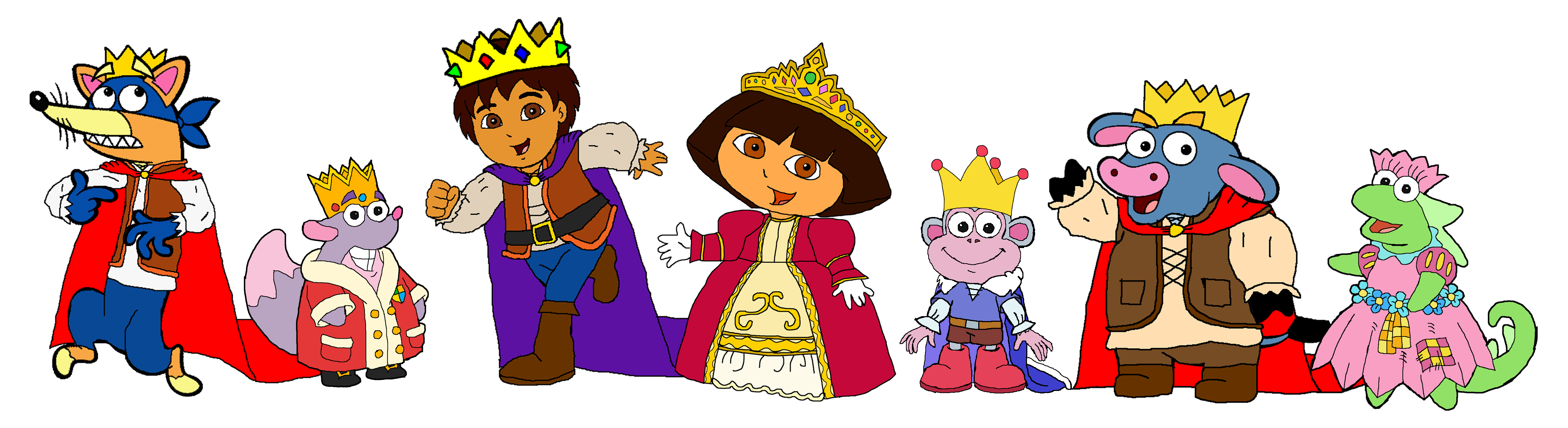 Dora and Diego  Medieval by KingLeonLionheart on DeviantArt