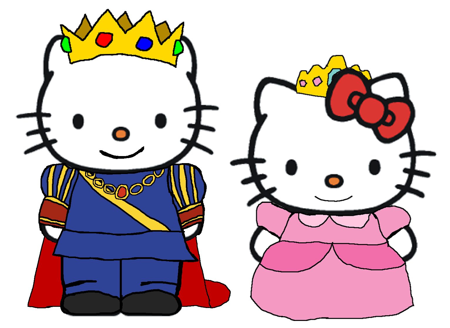 Hello Kitty Dear Daniel Coloring Pages : Prince dear daniel and princess kitty by kingleonlionheart