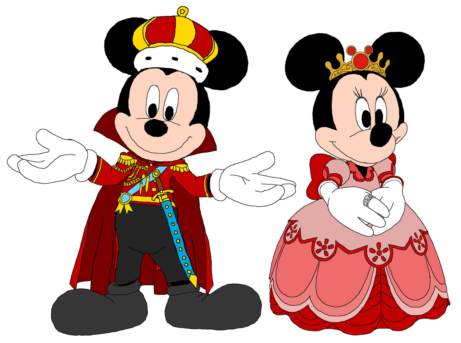 King Mickey and Queen Minnie - Kingdom Hearts by
