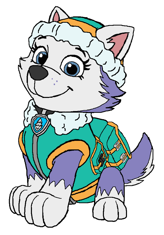Coloring Pages Of Everest From Paw Patrol : Everest paw patrol by kingleonlionheart on deviantart