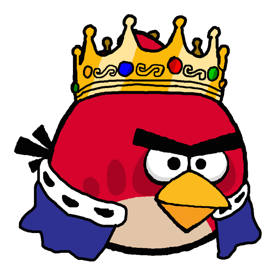 king red angry birds by kingleonlionheart on deviantart. Black Bedroom Furniture Sets. Home Design Ideas