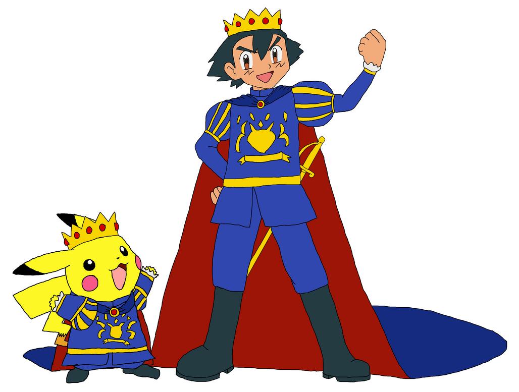 Prince Ash And Prince Pikachu By Kingleonlionheart On