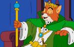 King Robin Hood - Throne and Scepter by KingLeonLionheart
