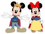 Mickey and Minnie - Snow White