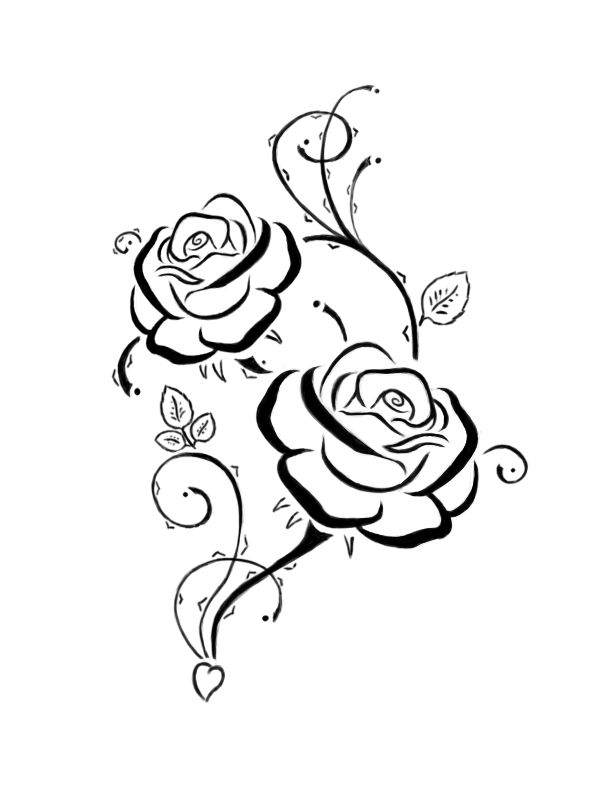 Skull Rose By Epic Cake Boxer Coloring Page