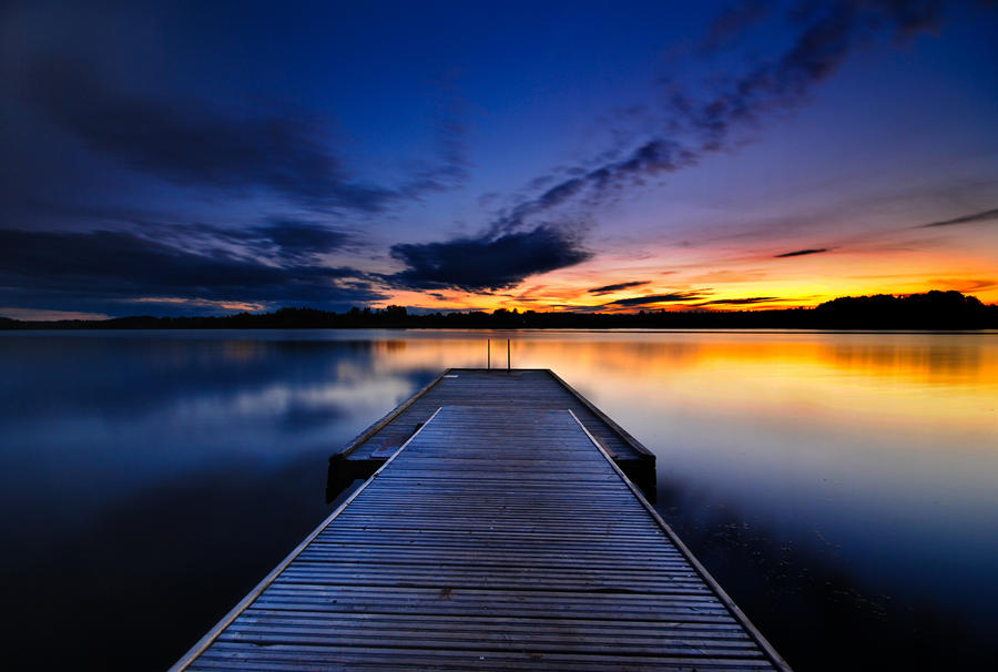 Pier At Sunset by comsic