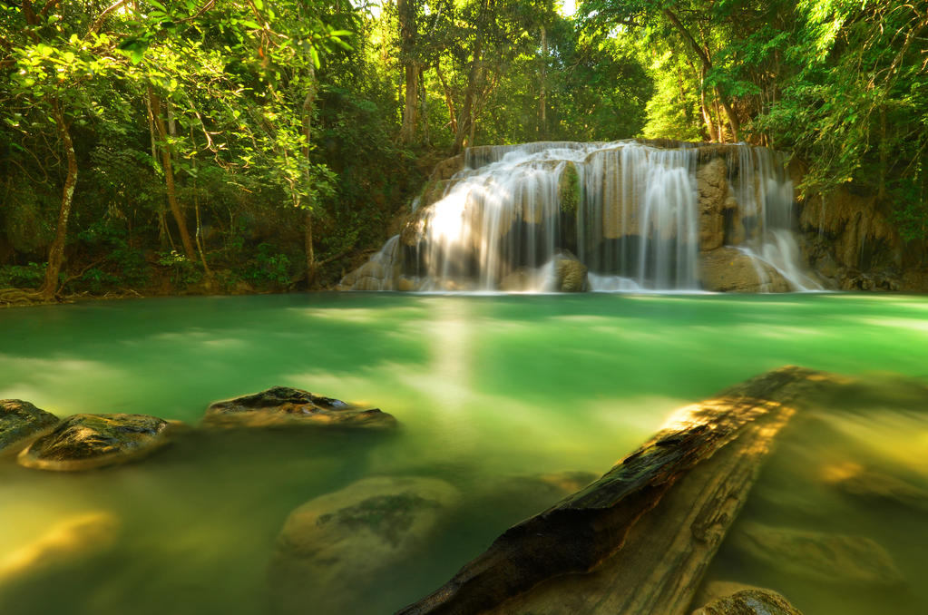 Erawan Waterfall III by comsic