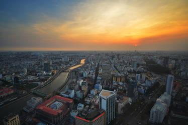 Saigon Sunset by comsic