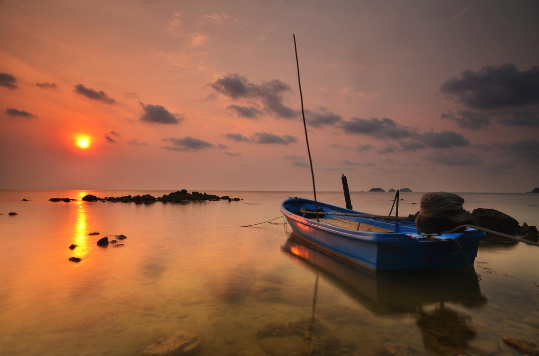 Koh Chang sunset by comsic