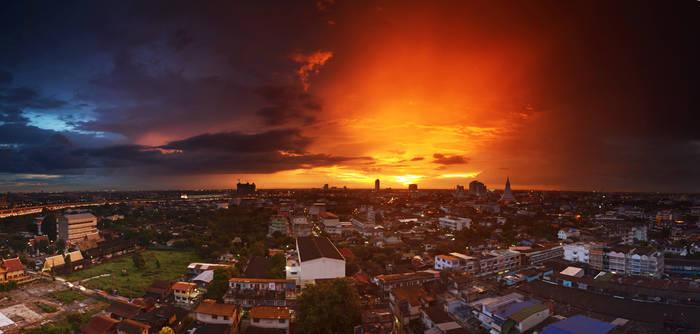 Balcony Sunset Panorama 4
