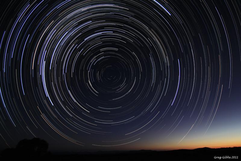 Star Trails At Dusk