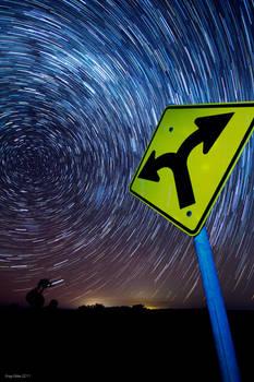 Space Travel Star Trail
