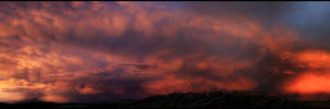 Stormy Colours Panorama by CapturingTheNight