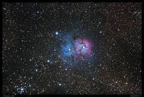 Trifid Nebula M20 Repro by CapturingTheNight