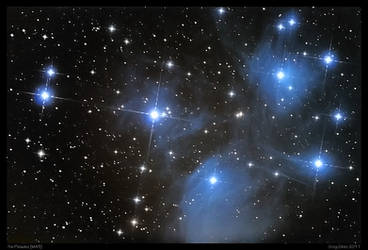 The Pleiades M45 Reprocess by CapturingTheNight