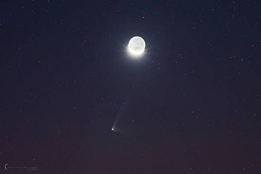 Comet and The Moon