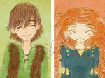 Hiccup x Merida