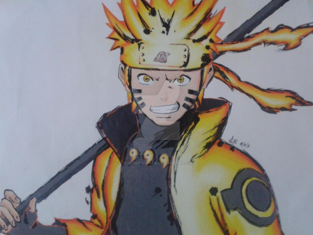 Naruto Uzumaki (Bijuu Mode) -NARUTO SHIPPUDEN- by ...