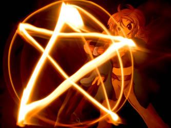Paper Child Fire Magic by ryu-yo