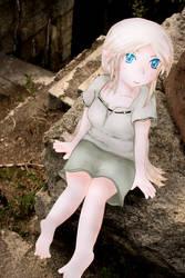 Paper Child Elf girl at ruins by ryu-yo
