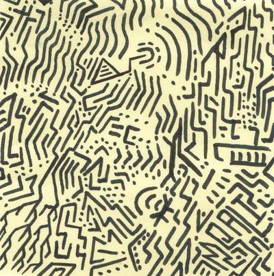 Post-it Alien Writing. by MisterSali