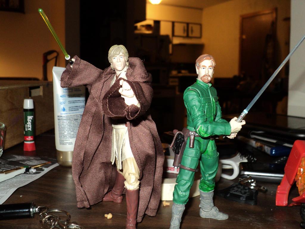 My custom Jedi Masters by toyphototaker