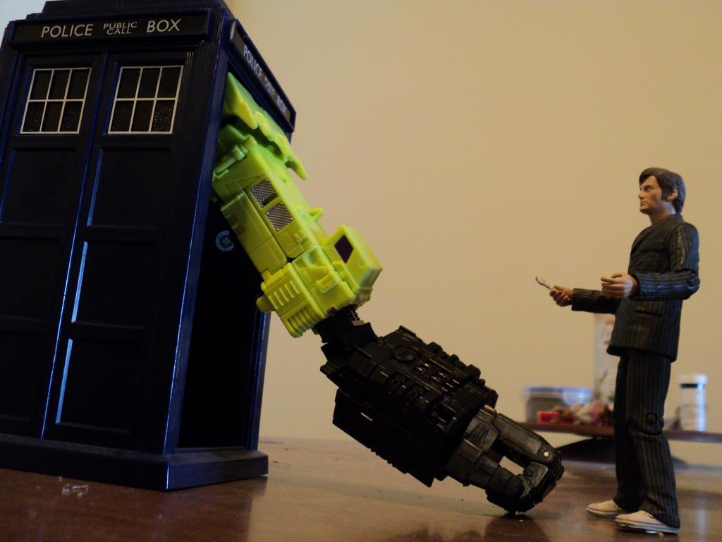 The Doctor meets Devastator by toyphototaker